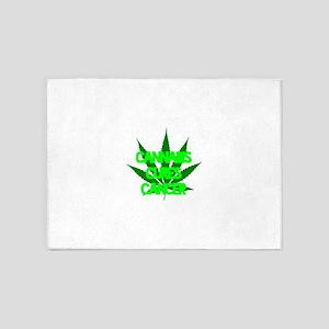 Cannabis Cures Cancer 5'x7'Area Rug