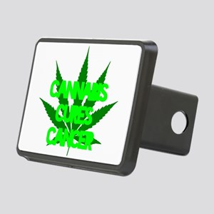 Cannabis Cures Cancer Rectangular Hitch Cover
