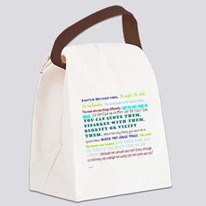 people who change things Canvas Lunch Bag