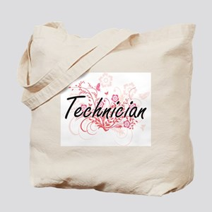 Technician Artistic Job Design with Flowe Tote Bag