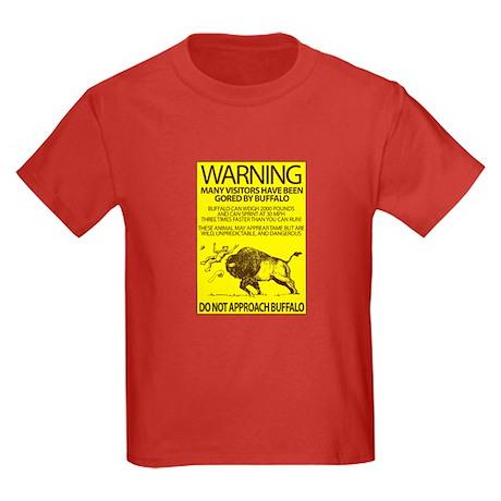 Warning: Buffalo Kids Dark T-Shirt