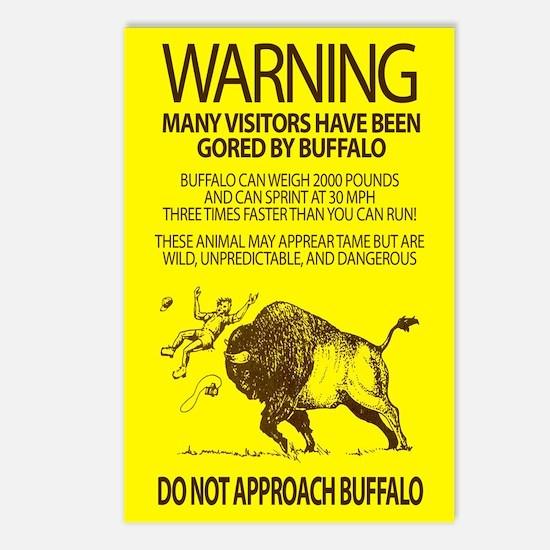 Warning: Buffalo Postcards (Package of 8)