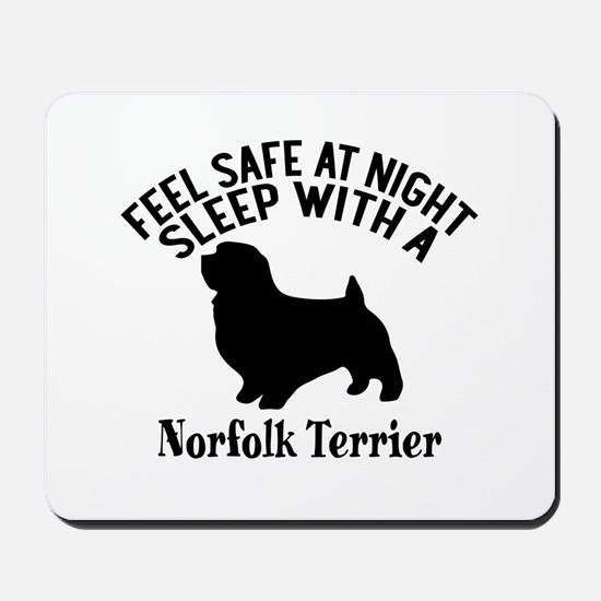 Feel Safe At Night Sleep With Norfolk Te Mousepad