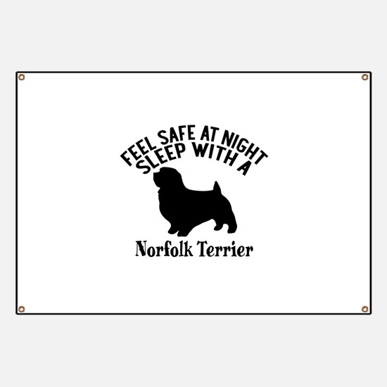 Feel Safe At Night Sleep With Norfolk Terri Banner