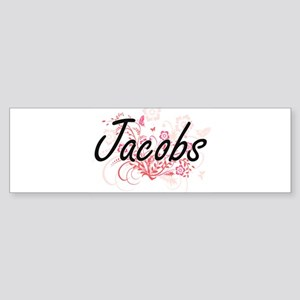 Jacobs surname artistic design with Bumper Sticker
