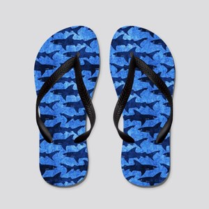 Sharks in the Deep Blue Sea Flip Flops