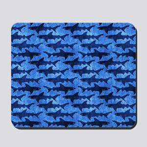 Sharks in the Deep Blue Sea Mousepad