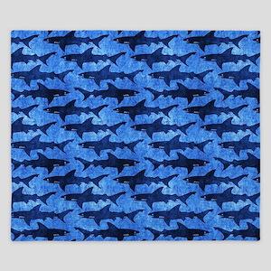 Sharks in the Deep Blue Sea King Duvet