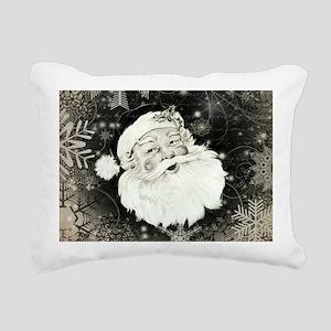 Vintage Santa Claus with snowflakes Rectangular Ca
