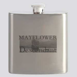 Mayflower Descendant Flask