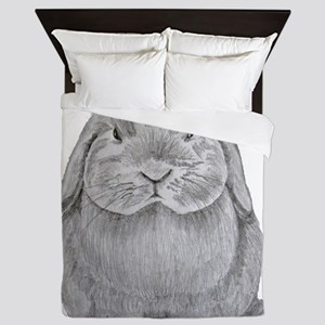 Holland Lop by Karla Hetzler Queen Duvet