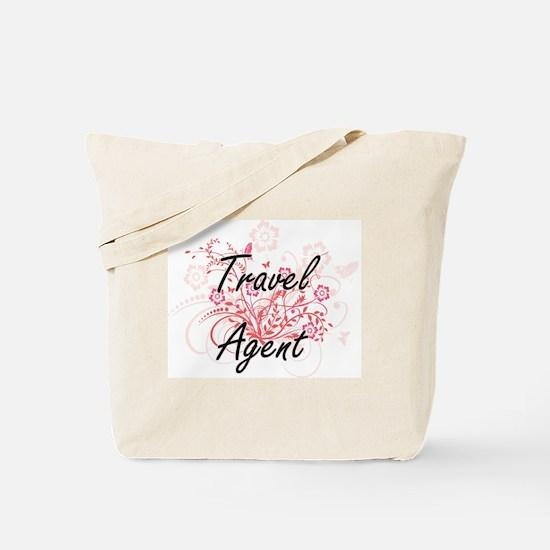 Travel Agent Artistic Job Design with Flo Tote Bag