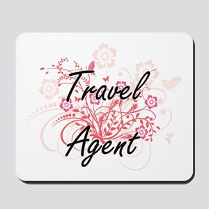 Travel Agent Artistic Job Design with Fl Mousepad