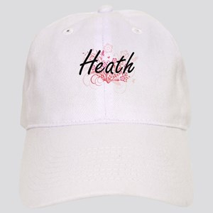 Heath surname artistic design with Flowers Cap