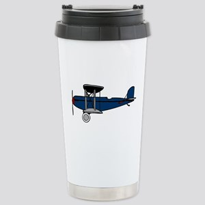 Blue Biplane Stainless Steel Travel Mug