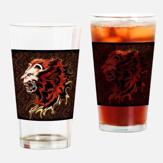 King Lion Roar Drinking Glass