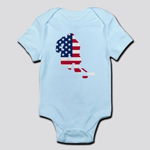 Hockey Player American Flag Body Suit