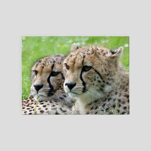 Cheetah009 5'x7'Area Rug