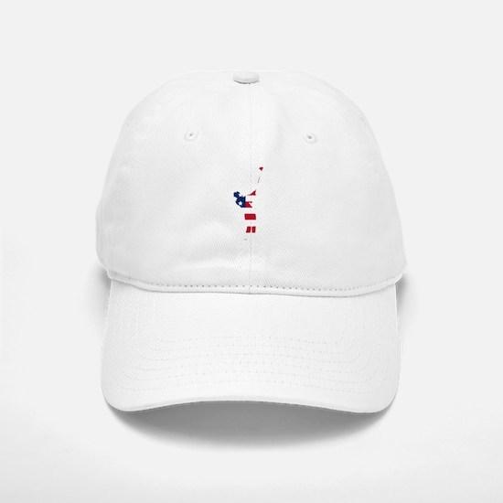 Golfer American Flag Baseball Baseball Baseball Cap