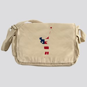 Golfer American Flag Messenger Bag