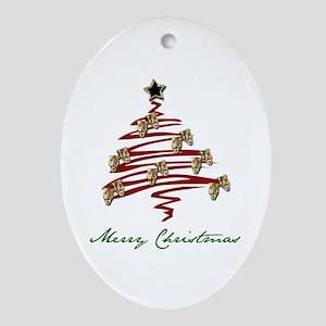 Drama Tree Oval Ornament