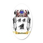 MacQueen Oval Car Magnet