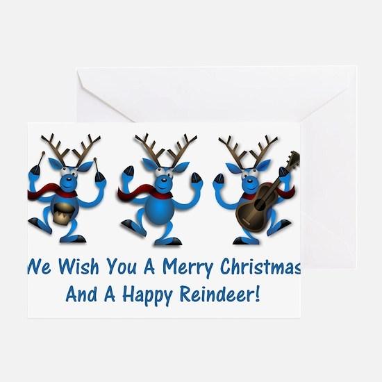 Merry Christmas Happy Reindeer Greeting Card
