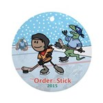 2015 Order Of The Stick Holiday Round Ornament