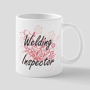 Welding Inspector Artistic Job Design with Fl Mugs