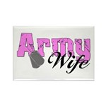 Army Wife Rectangle Magnet (10 pack)
