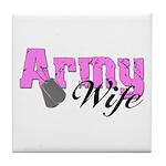 Army Wife Tile Coaster