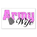 Army Wife Rectangle Sticker