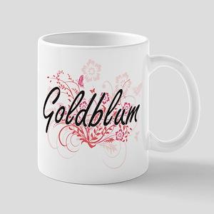Goldblum surname artistic design with Flowers Mugs