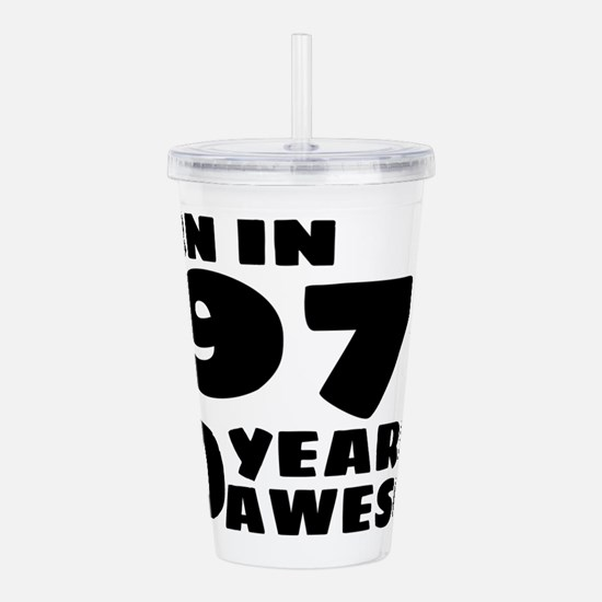 Cute Forty years old Acrylic Double-wall Tumbler