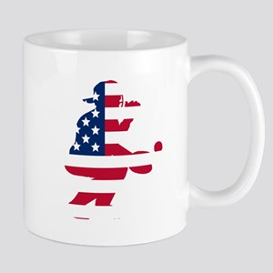 Baseball Catcher American Flag Mugs