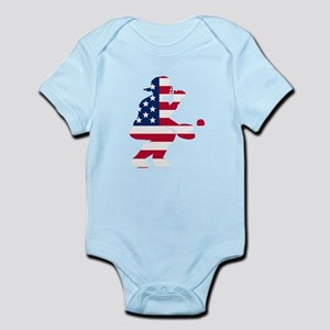 Baseball Catcher American Flag Body Suit