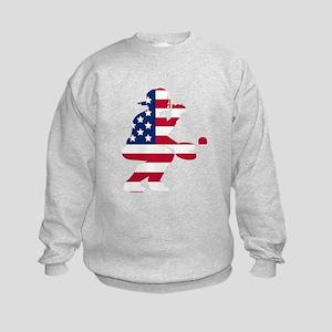 Baseball Catcher American Flag Sweatshirt