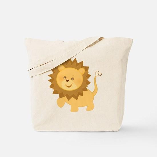 Cute Baby lion Tote Bag
