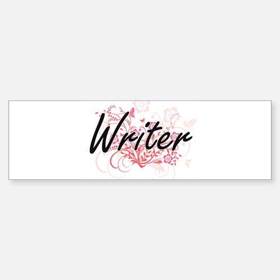 Writer Artistic Job Design with Flo Bumper Bumper Bumper Sticker