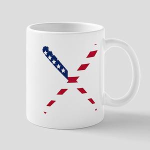 Baseball Bats American Flag Mugs