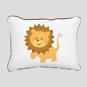 Baby Lion Rectangular Canvas Pillow
