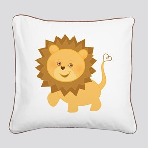 Baby Lion Square Canvas Pillow