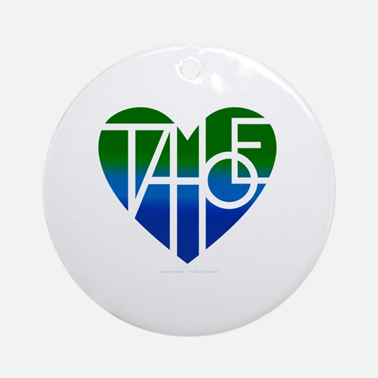 Cute Lake tahoe Round Ornament
