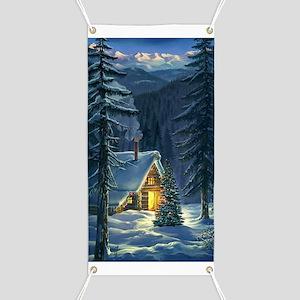 Christmas Snow Landscape Banner