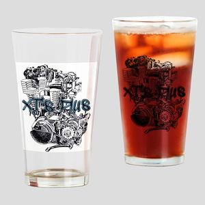 XT's Plus logo Drinking Glass