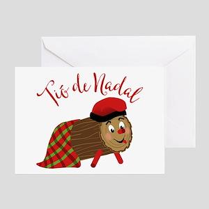 Tio De Nadal Greeting Cards