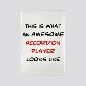awesome accordion player Rectangle Magnet