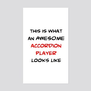 awesome accordion player Sticker (Rectangle)