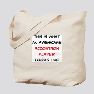 awesome accordion player Tote Bag