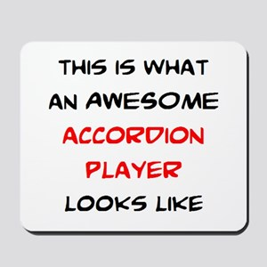 awesome accordion player Mousepad